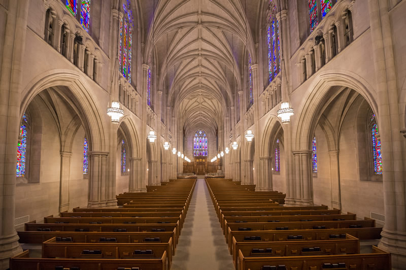 Interior of Duke University Chapel